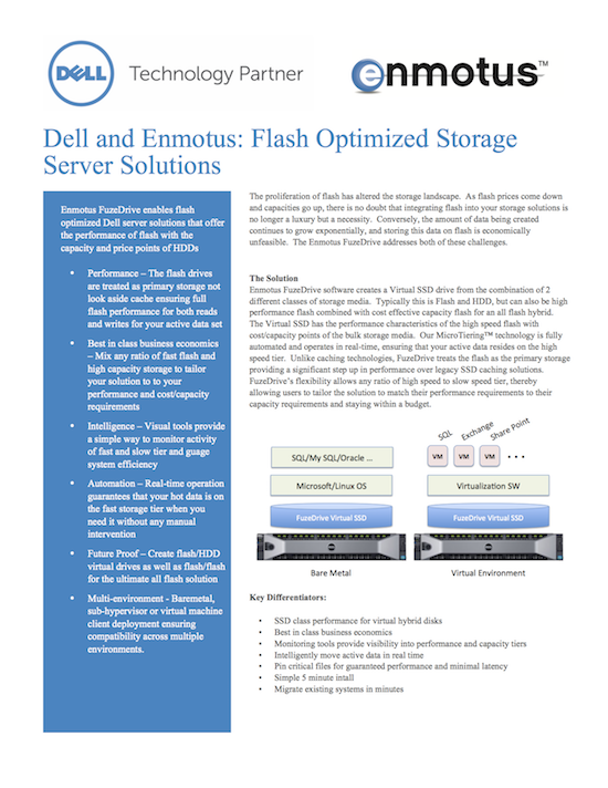 Dell Enmotus Flash Optimized Storage Server Solutions