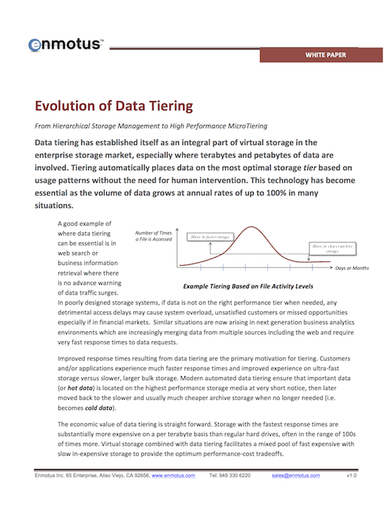 Evolution of Data Tiering