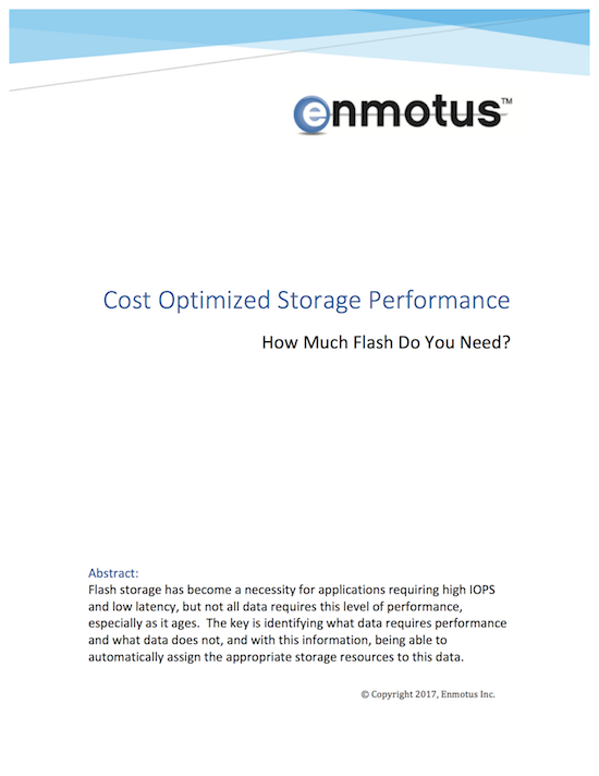cost optimized storage performance